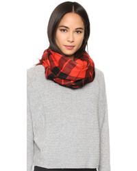roter Schal mit Schottenmuster von Kate Spade