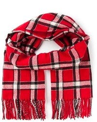 roter Schal mit Schottenmuster von Marc by Marc Jacobs