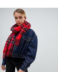 roter Schal mit Schottenmuster von My Accessories