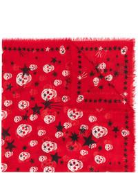 roter Schal mit Sternenmuster von Alexander McQueen