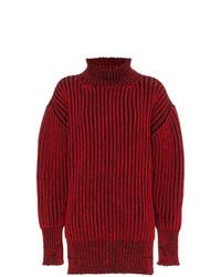 roter Strick Oversize Pullover von Balenciaga