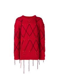 roter Strickpullover von Calvin Klein 205W39nyc