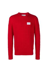 roter Strickpullover von Calvin Klein Jeans