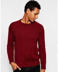 roter Strickpullover von Selected