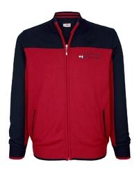 roter und dunkelblauer Pullover mit einem Reißverschluß von ROGER KENT