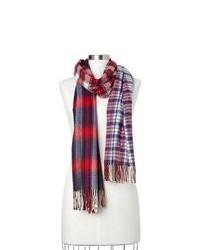 roter und dunkelblauer Schal