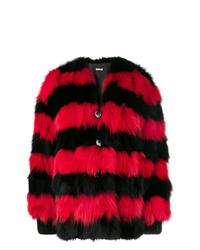 roter und schwarzer Pelz von Miu Miu