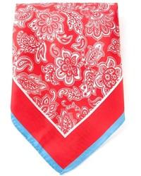 roter und weißer bedruckter Schal