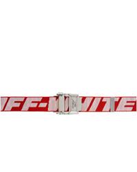 roter und weißer Segeltuchgürtel von Off-White