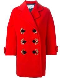 roter verzierter Mantel von Gianfranco Ferre