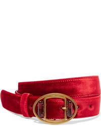 roter verzierter Taillengürtel von Prada
