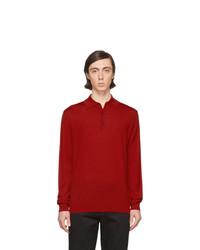 roter Wollpolo pullover von Lanvin