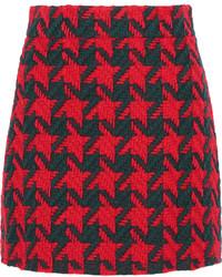 roter Wollrock mit Hahnentritt-Muster von Gucci
