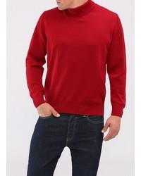 roter Wollrollkragenpullover von MAERZ Muenchen