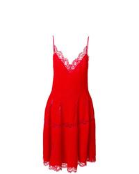 rotes ausgestelltes Kleid aus Spitze von Givenchy