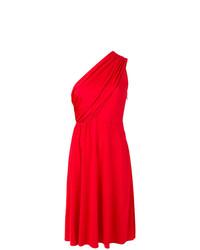 rotes ausgestelltes Kleid von Lanvin