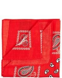 rotes bedrucktes Einstecktuch von Asos