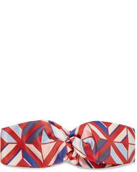rotes bedrucktes Haarband von Fendi