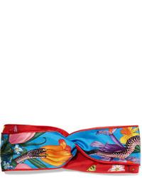 rotes bedrucktes Haarband von Gucci