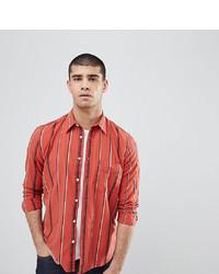 rotes bedrucktes Langarmhemd von Nudie Jeans