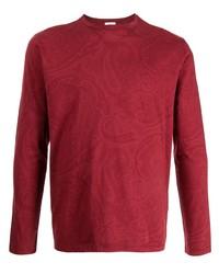 rotes bedrucktes Langarmshirt von Etro