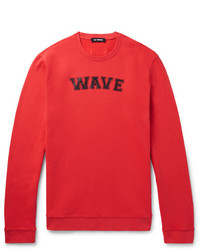 rotes bedrucktes Sweatshirt