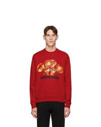 rotes bedrucktes Sweatshirt von DSQUARED2