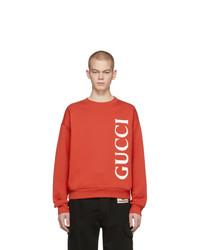 rotes bedrucktes Sweatshirt von Gucci