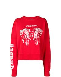 rotes bedrucktes Sweatshirt von Marcelo Burlon County of Milan