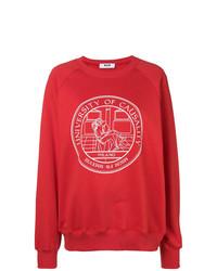 rotes bedrucktes Sweatshirt von MSGM