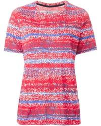 rotes bedrucktes T-Shirt mit einem Rundhalsausschnitt von Tory Burch