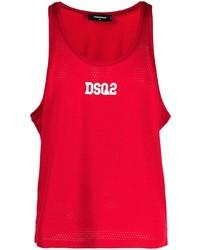 rotes bedrucktes Trägershirt von DSQUARED2