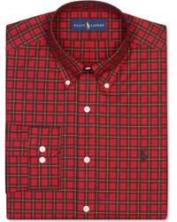 Rotes Businesshemd mit Schottenmuster