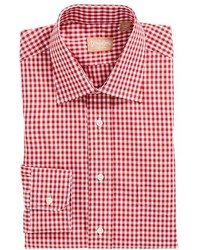 rotes Businesshemd mit Vichy-Muster