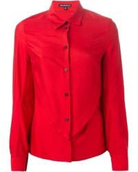 rotes Businesshemd von Ann Demeulemeester