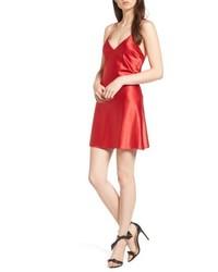 rotes Camisole-Kleid aus Satin