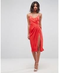 rotes Camisole-Kleid aus Satin von Asos