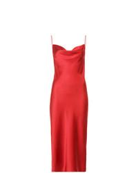 rotes Camisole-Kleid aus Satin von Fleur Du Mal