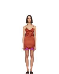 rotes Camisole-Kleid von Fleur Du Mal