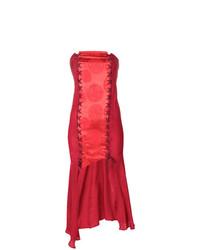 rotes Cocktailkleid von Romeo Gigli Vintage