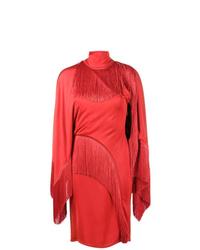 rotes Etuikleid mit Fransen von Givenchy