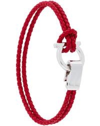 rotes geflochtenes Armband von Salvatore Ferragamo