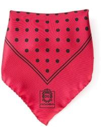 rotes gepunktetes Einstecktuch von Dolce & Gabbana
