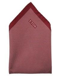 rotes gepunktetes Einstecktuch von Eton