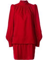 rotes gerade geschnittenes Kleid aus Samt von Marc Jacobs