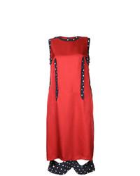 rotes gerade geschnittenes Kleid aus Seide von Maison Margiela