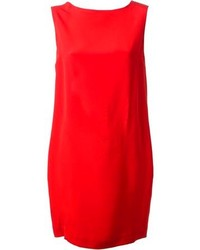rotes gerade geschnittenes Kleid
