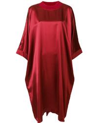 rotes gerade geschnittenes Kleid von Maison Margiela