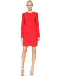 rotes gerade geschnittenes Kleid von Victoria Beckham