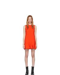 rotes gerade geschnittenes Kleid von Victoria Victoria Beckham